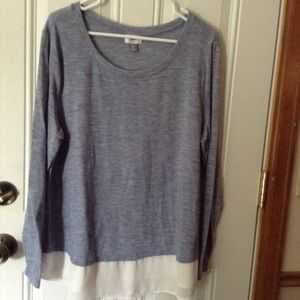Old Navy layered look long sleeve top